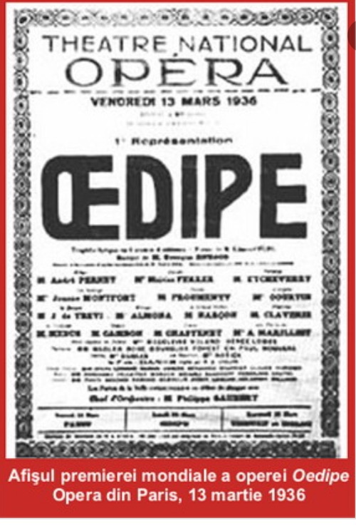 George Enescu: OEDIPE (Oedipe)  New Production